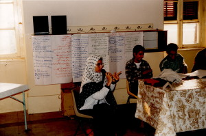 Session en Egypte en français avec traduction arabe, en 1995.
